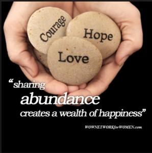 Sharing abundance